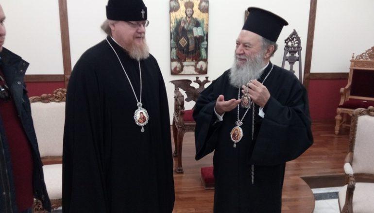 Ο Επίσκοπος Ποντόλσκ Τύχων στην Ι. Μ. Χαλκίδος