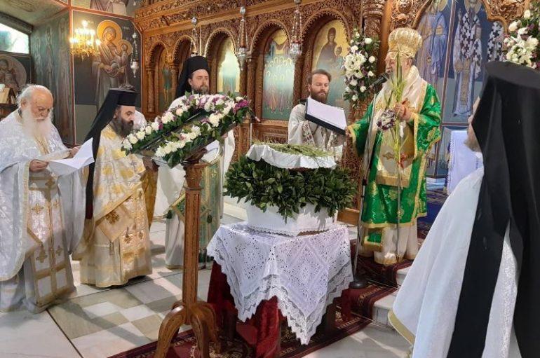 Κυριακή των Βαΐων στην Ιερά Μητρόπολη Χαλκίδος