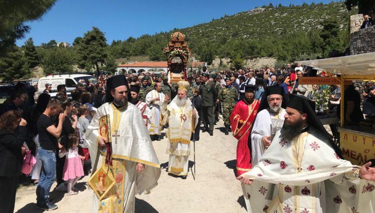 Πανηγύρισε η Ιερά Μονή Αγίου Γεωργίου Αρμά Ευβοίας