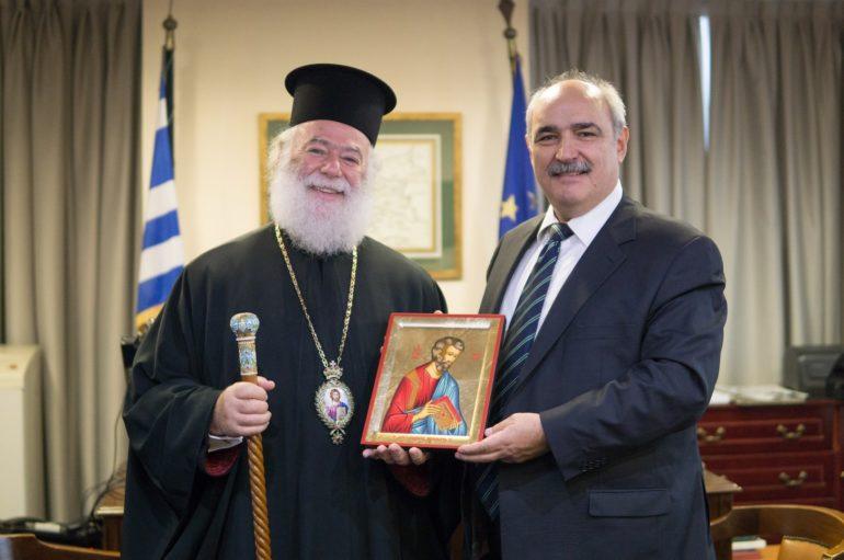 Τον ΥΦΥΠΕΞ Μπόλαρη επισκέφθηκε ο  Πατριάρχης Αλεξανδρείας