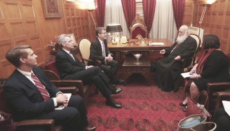 Συνάντηση του Αρχιεπισκόπου με τον Πρεσβευτή των Η.Π.Α.