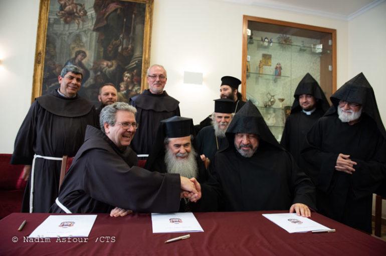Συμφωνία για την ολοκλήρωση των εργασιών του Παναγίου Τάφου
