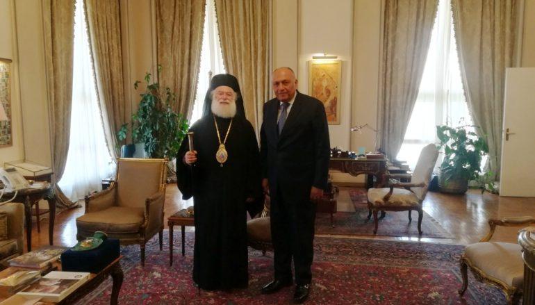 Ο Πατριάρχης Αλεξανδρείας στον Υπουργό Εξωτερικών της Αιγύπτου