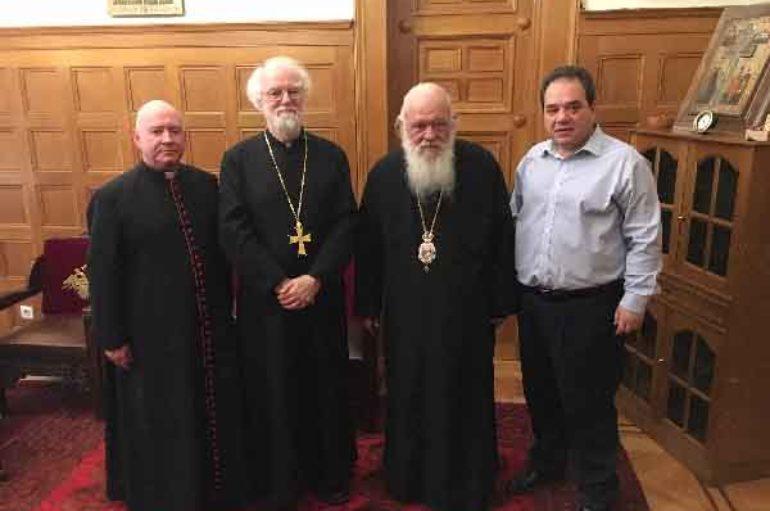 Ο πρώην Αρχιεπίσκοπος Καντουαρίας στον Αρχιεπίσκοπο Αθηνών