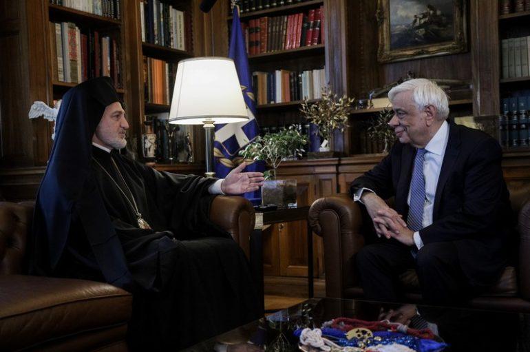 Ο Αρχιεπίσκοπος Αμερικής στον Πρόεδρο της Δημοκρατίας