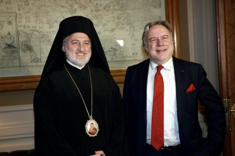 Ο Αρχιεπίσκοπος Αμερικής στον Υπουργό Εξωτερικών