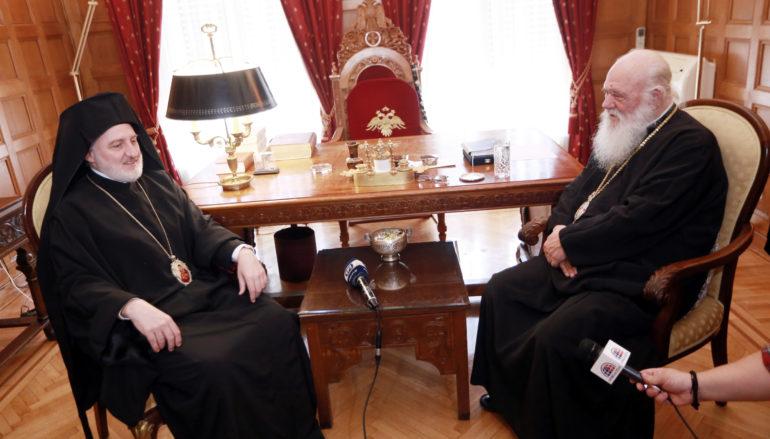 Ο Αρχιεπίσκοπος Αμερικής στον Αρχιεπίσκοπο Αθηνών Ιερώνυμο