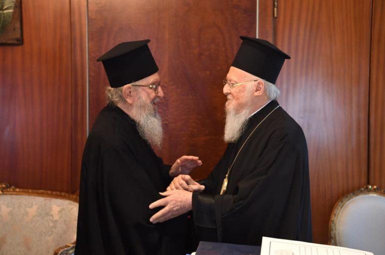 Στον Οικ. Πατριάρχη ο Αρχιεπίσκοπος Αμερικής