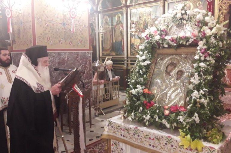 Απόδοση εορτής της Παναγίας Τρυπητής στο Αίγιο