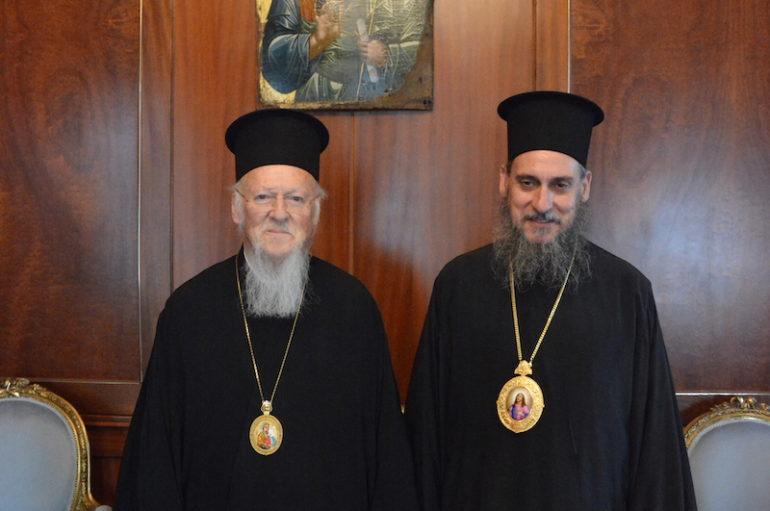Ο νέος Επίσκοπος Ολβίας Επιφάνιος στον Οικ. Πατριάρχη