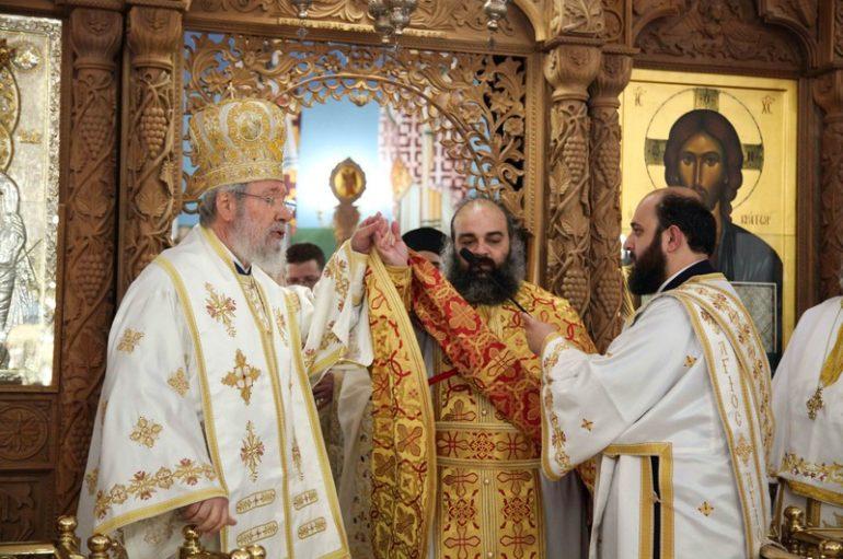 Χειροτονία Πρεσβυτέρου από τον Αρχιεπίσκοπο Κύπρου