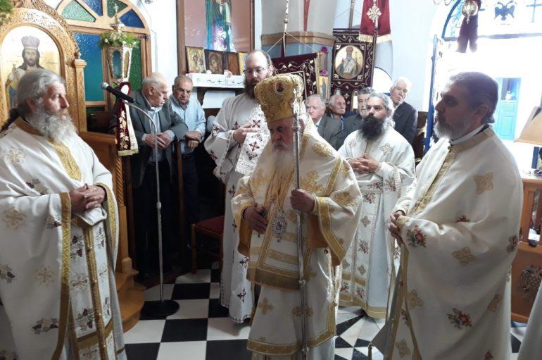 Η εορτή του Αγ. Επιφανίου Επισκόπου Κωνσταντίας της Κύπρου στη Σαντορίνη