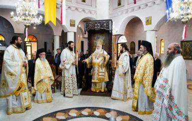 Αρχιερατική Θεία Λειτουργία στον Ι. Ναό Αγ. Δημητρίου Ναούσης
