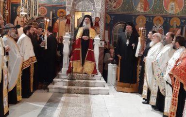 Ο Αρχιεπίσκοπος Μαδάβων στη Μητρόπολη Λαρίσης