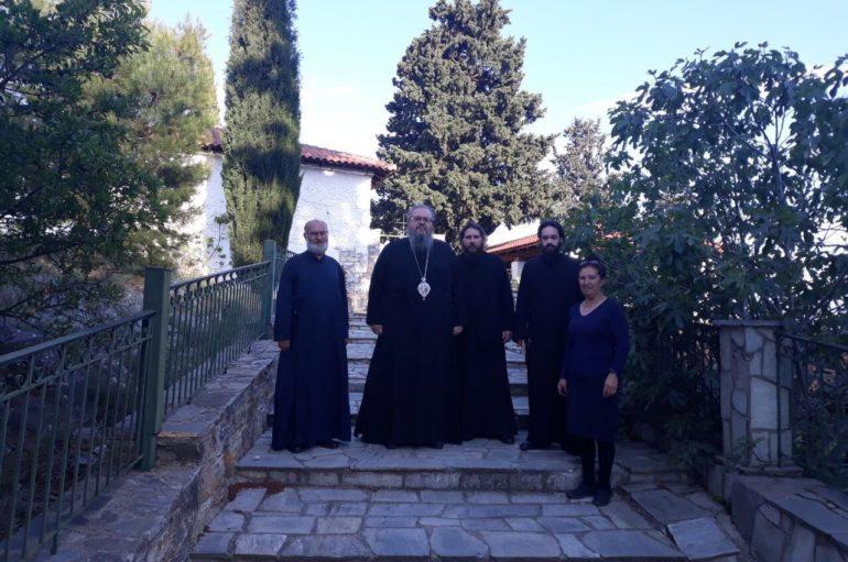 Επίσκεψη του Μητροπολίτη Λαρίσης στον Ι. Ναό Προφήτου Ηλιού Τυρνάβου