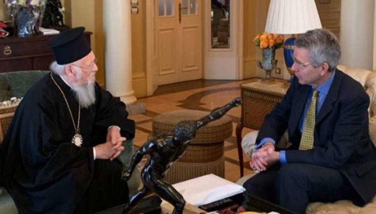 Συνάντηση Οικ. Πατριάρχη με τον Πρέσβη των ΗΠΑ