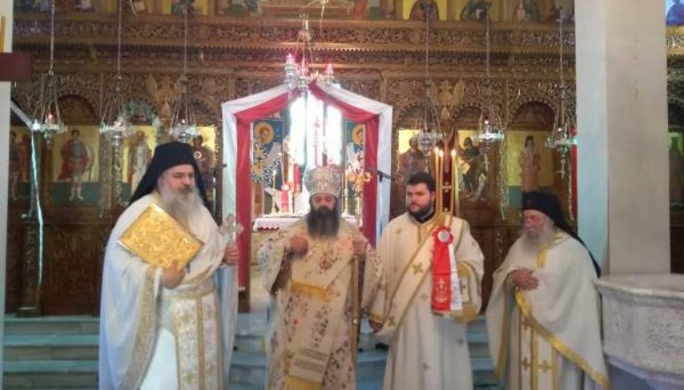 Ο Επίσκοπος Κεγχρεών στην Ιερά Μονή Αγίου Αθανασίου Πουλίτσας