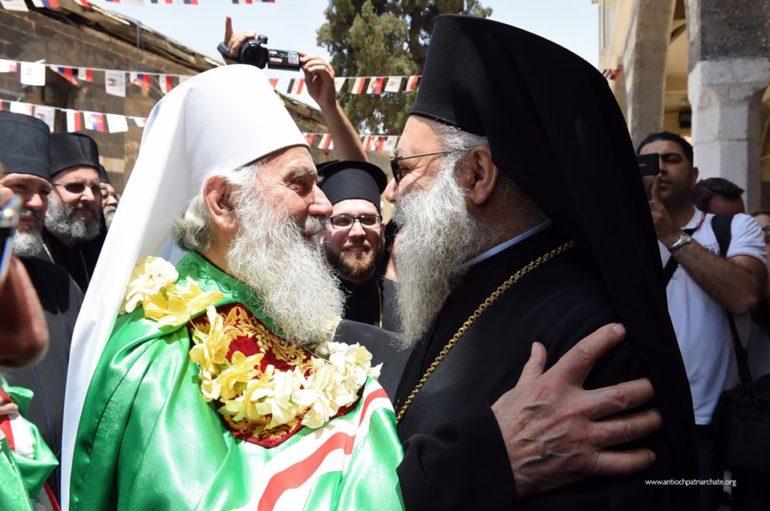 Ο Πατριάρχης Σερβίας Ειρηναίος επισκέφθηκε την Δαμασκό