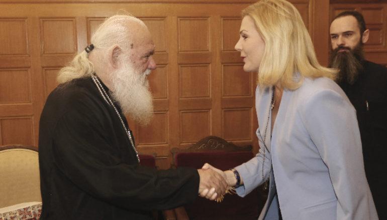Η υποψήφια Βουλευτής Έμη Λιβανίου στον Αρχιεπίσκοπο