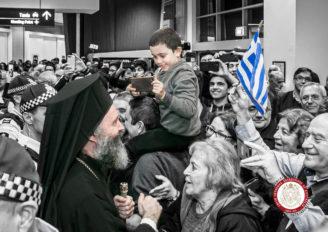 Φωτορεπορτάζ από την άφιξη του Αρχιεπισκόπου Αυστραλίας