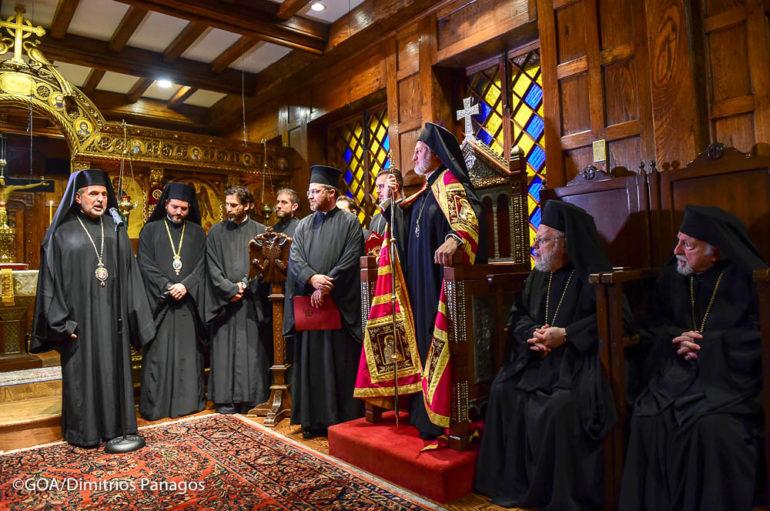 Ο Αμερικής Ελπιδοφόρος στην Ιερά Αρχιεπισκοπή του