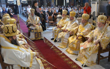Πολυαρχιερατικό Συλλείτουργο για τον Ιδρυτή της εν Κορινθία Εκκλησίας