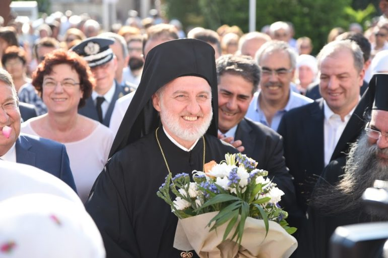 Λαμπρή η υποδοχή του Αρχιεπισκόπου Αμερικής στη Νέα Πέλλα
