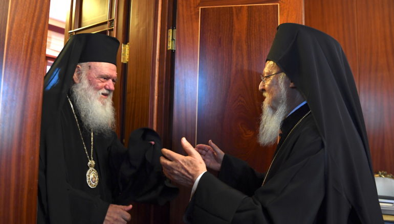 Ο Αρχιεπίσκοπος Αθηνών  στο Οικουμενικό Πατριαρχείο