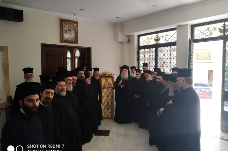 Γενική Ιερατική Σύναξη στην Ιερά Μητρόπολη Περιστερίου