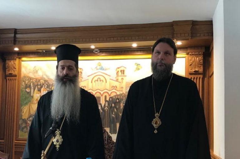 Ο Επίσκοπος Θεσπιών Συμεών στην Ι. Μητρόπολη Νέας Ιωνίας