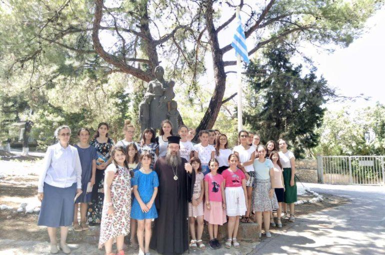 """Ο Μητροπολίτης Χίου στην Κατασκήνωση """"Άγιος Κοσμάς"""""""