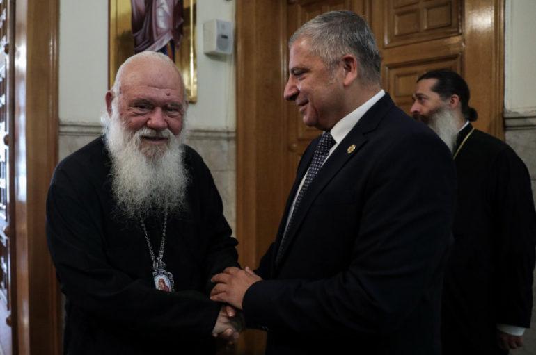 Συνάντηση Αρχιεπισκόπου με τον Περιφερειάρχη Αττικής Γιώργο Πατούλη