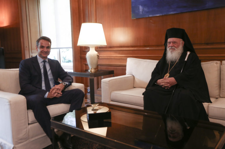 """Πρωθυπουργός σε Αρχιεπίσκοπο: """"Καμία αλλαγή στη Συνταγματική αναθεώρηση"""""""