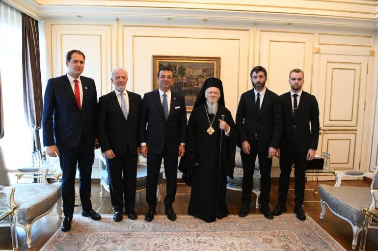 Ο Οικ. Πατριάρχης στο νέο Δήμαρχο της Πόλεως Ιmamoğlu