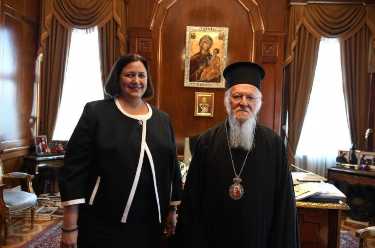 Στο Οικ. Πατριαρχείο η νέα Γενική Πρόξενος των ΗΠΑ στην Πόλη