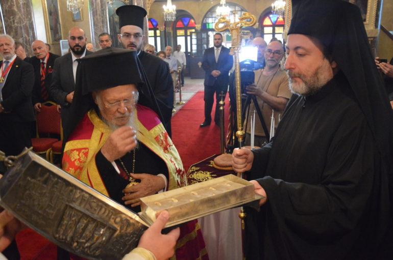 """Οικ. Πατριάρχης: """"Μεγάλη χειρονομία η προσφορά λειψάνου του Αποστόλου Πέτρου"""""""