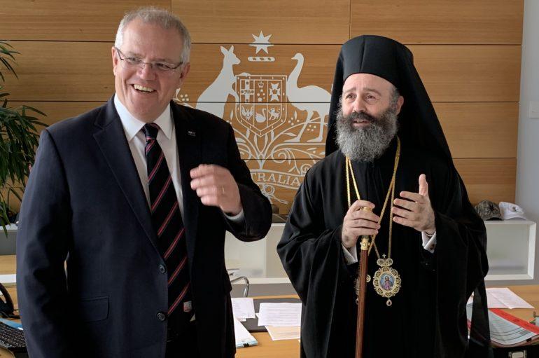 Συνάντηση του Αρχιεπισκόπου Αυστραλίας με τον Πρωθυπουργό της Αυστραλίας