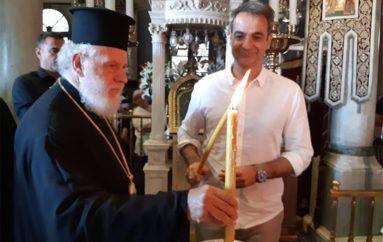 Ο Πρωθυπουργός Κυριάκος Μητσοτάκης στην Παναγία της Τήνου