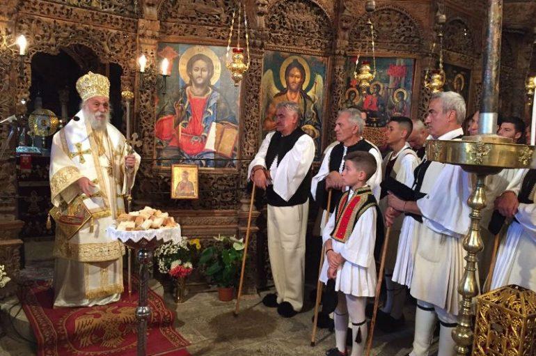 Ο εορτασμός της Παναγίας και του Νεομάρτυρος Αγίου Δημητρίου στη Σαμαρίνα