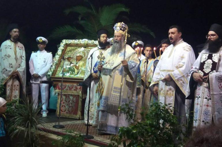 Πάνδημη λιτανεία της Παναγίας Τριχερούσας στην Κατερίνη