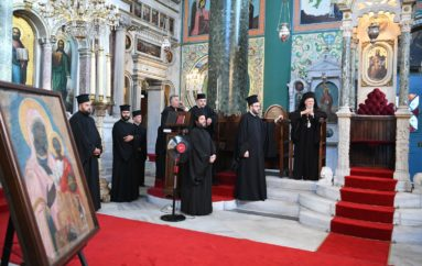 Ο Οικ. Πατριάρχης στο Ναό της Παναγίας Ελπίδος στο Κοντοσκάλι