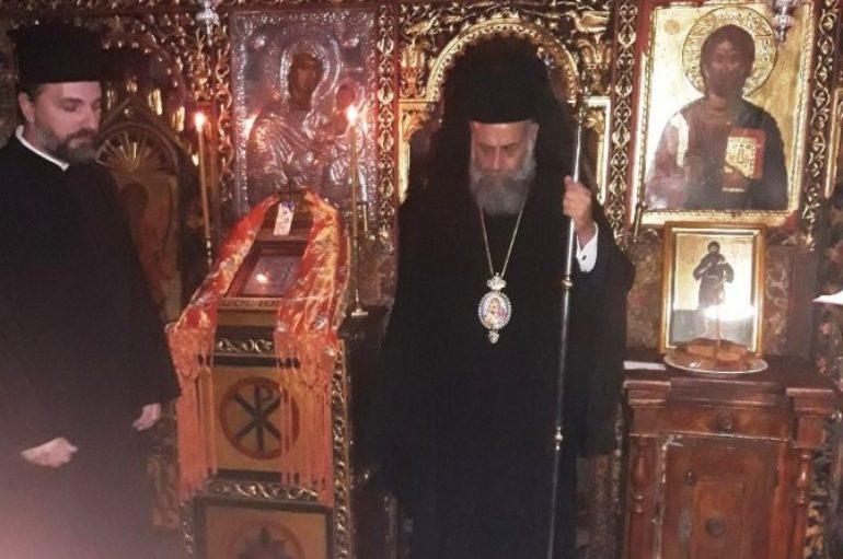 """Ο Μητροπολίτης Θεσσαλιώτιδος στην Ι. Μονή Παναγίας """"Πελεκητής"""""""
