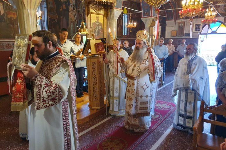 Ο Μητροπολίτης Σταγών Θεόκλητος στο Ορθοβούνι Τρικάλων