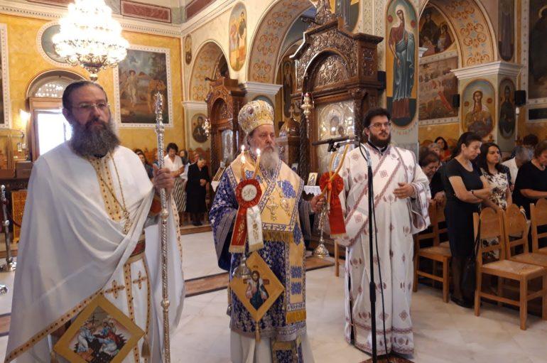 Ο Επίσκοπος Κερνίτσης στον Ι. Ναό Αγίου Ανδρέου Εγλυκάδος Πατρών