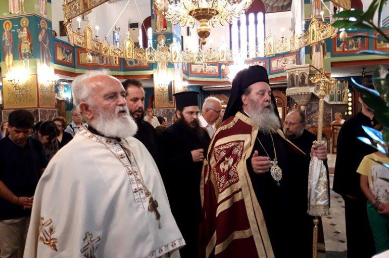 Ο Επίσκοπος Κερνίτσης στον Ι. Ναό Παναγίας Φανερωμένης Αιγίου