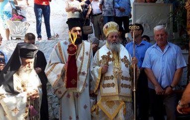 Ο Επίσκοπος Κερνίτσης στην Ιερά Μονή Κοιμήσεως της Θεοτόκου Νοτενών