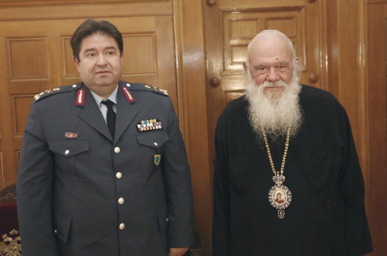 Ο Αρχηγός της Ελληνικής Αστυνομίας στον Αρχιεπίσκοπο Ιερώνυμο