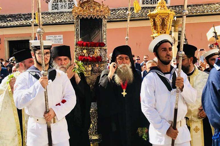 Η Κέρκυρα λιτάνευσε τον Πολιούχο της Άγιο Σπυρίδωνα
