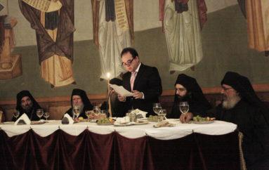 Αποχαιρετιστήρια ομιλία του  Διοικητή του Αγίου Όρους Κωστή Δήμτσα