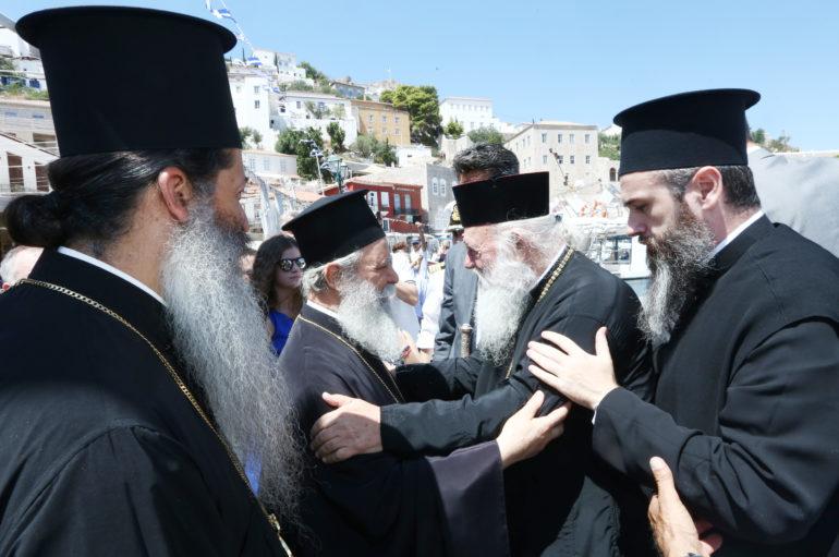 Ο Αρχιεπίσκοπος στην Ύδρα για τον εορτασμό της Παναγίας